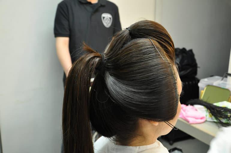 新日本髪技法の高島田